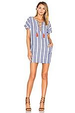 Tularosa Warren Tunic Dress in Indigo Stripe