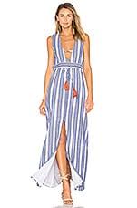 Tularosa Essie Maxi Dress in Indigo Stripe