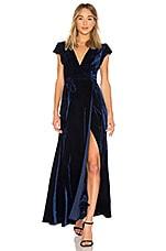 Tularosa Sid Wrap Dress in Midnight Blue