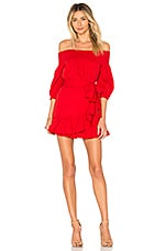 Tularosa Maida Ruffle Dress in Poppy