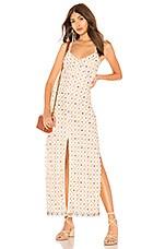 Tularosa Linda Embroidered Dress in Cream