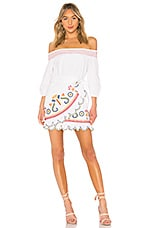 Tularosa Maida Ruffle Dress in Marshmallow
