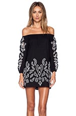 Tularosa Blair Embroidery Dress in Black