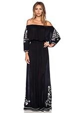 Vivianne Embroidery Dress in Black