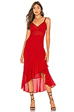 Tularosa Maya Dress in Lipstick Red Dot