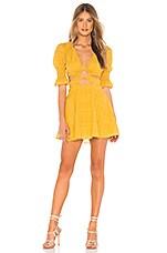 Tularosa Nanette Dress in Mustard Yellow