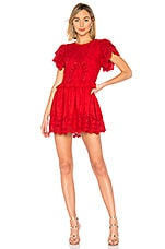 Tularosa Paula Dress in Bright Red