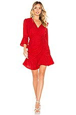 Tularosa Joannie Dress in Bright Red