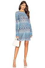 Tularosa Capri Sweater Dress in Blue Chevron