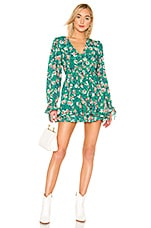 Tularosa Deedee Dress in Kelly Green Floral