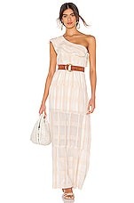 Tularosa Avery Dress in White Stripe