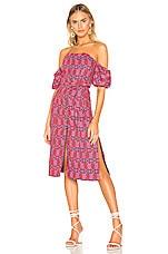 Tularosa Lori Embroidered Dress in Pink Multi
