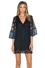 Tularosa Charlotte Lace Dress in Navy