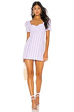 Tularosa Rosalind Dress in Lilac & White Stripe