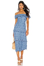 Tularosa Monica Dress in Slate Blue