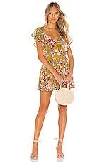 Tularosa Hillary Dress in Mustard Floral
