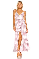 Tularosa Aubrie Dress in Red & White Stripe