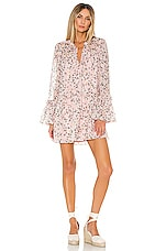 Tularosa Nathalie Dress in Pale Pink Floral