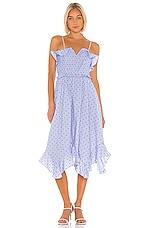 Tularosa Presley Dress in Chambray Blue