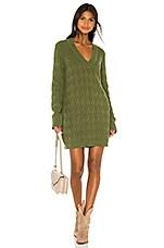 Tularosa Ambrosia Sweater Dress in Evergreen