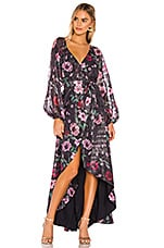 Tularosa Cora Wrap Dress in Midnight Floral