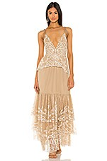 Tularosa Geonna Dress in Nude & White