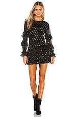 Tularosa Minnie Smocked Dress in Black