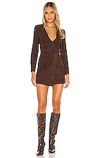 Tularosa The Ila Mini Dress in Brown