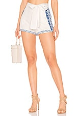 Tularosa Claire Short in Ivory & Blue