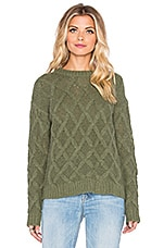 Tularosa x REVOLVE Lisbon Cross Hatch Sweater in Army Green