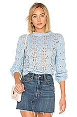 Tularosa Open Weave Sweater in Dusty Blue