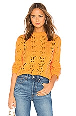 Tularosa Open Weave Sweater in Marigold
