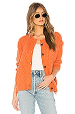 Tularosa Chester Sweater Jacket in Coral