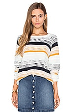 Cheyenne Knit Pullover in Mixed Stripe