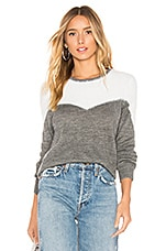 Tularosa Aspen Sweater in Ivory & Grey