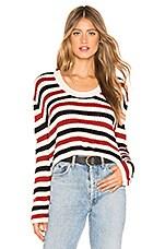 Tularosa La Flame Sweater in Red Stripe