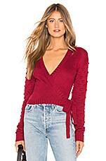Tularosa Folly Wrap Sweater in Red
