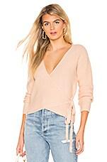 Tularosa Destiny Wrap Sweater in Nude Peach