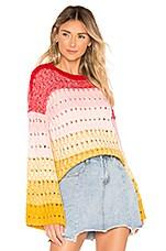 Tularosa Let Go Sweater in Sunrise Stripe