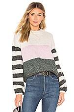 Tularosa Penny Sweater in Dark Green Stripe