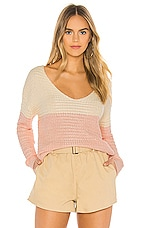 Tularosa Two Harbors Sweater in Ivory & Pink
