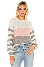 Tularosa Penny Sweater in Blush Birch Stripe
