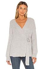 Tularosa Helen Wrap Sweater in Light Grey