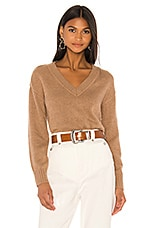 Tularosa Beata V Neck Sweater in Camel