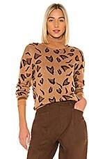Tularosa Jungle Sweater in Brown Leopard