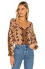 Tularosa Leopard Sweater in Brown Leopard
