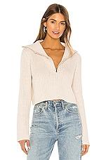Tularosa Lovelle Zip Up Sweater in Cream