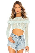 Tularosa Mindy Crochet Top in Key Lime