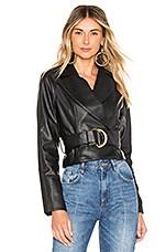 Tularosa Joan Faux Leather Jacket in Black