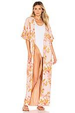 Tularosa Rae Reversible Robe in Pastel Garden Floral